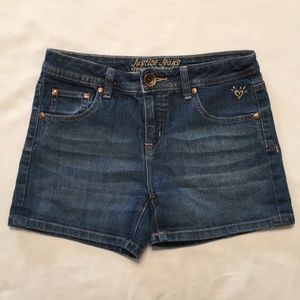 Justice Girls Denim Jean Shorts Simply Low 14R